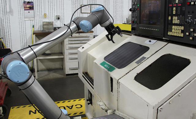collaborative universal robot machine tending