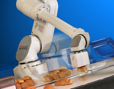 Industrial Pick And Place Robot Handling Food