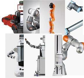 collaborative-robots-lwr4+-IIWA-Frida-Baxter-Universal Robots-workerbot-PR2-PF400