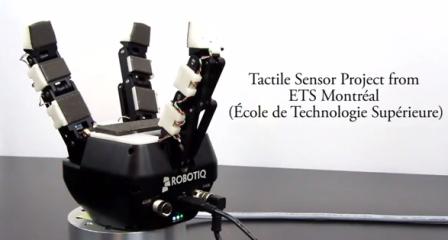 Tactile sensor robot gripper end effector 448px