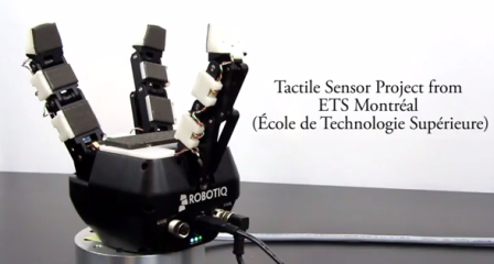 Integrated Tactile Sensors for Robotic Gripper from ETS