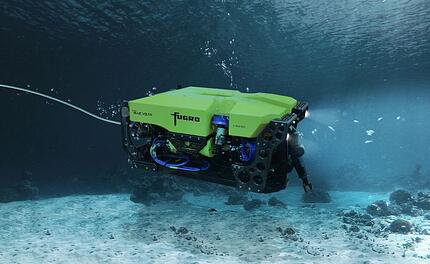 Underwater robot performing inspection and exploring tasks