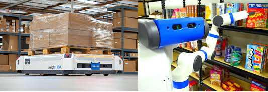 Robots being used in the logistics industry