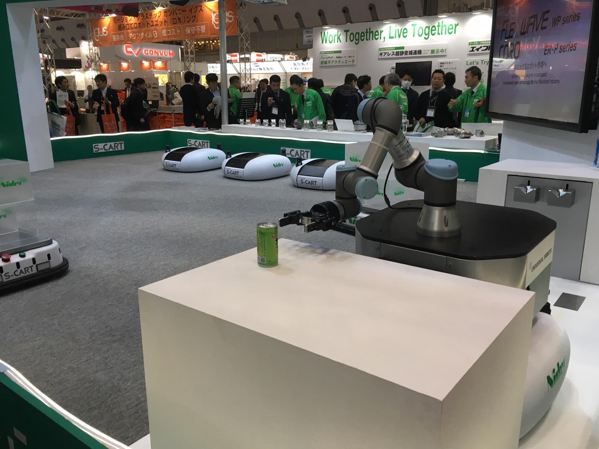 Robotiq in  Nidec booth