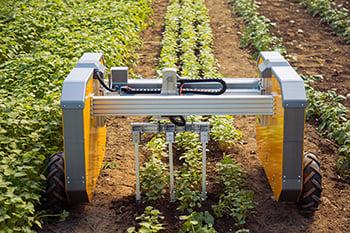 Farmhand Automationall-electric robot weeding fields