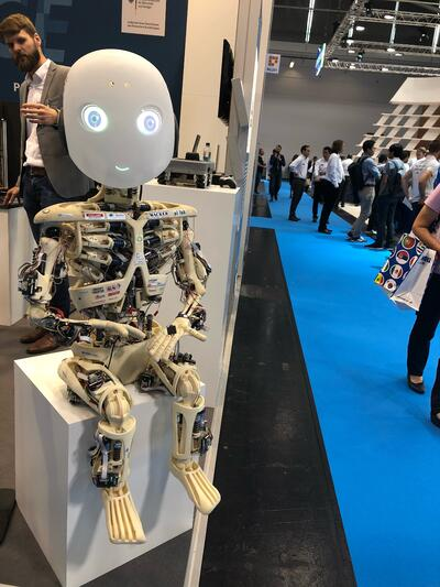 Automatica 2018 Creepy Robot Kid