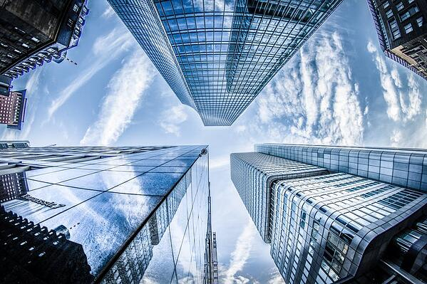 Large-office-buildings-stretching-towards-the-sky