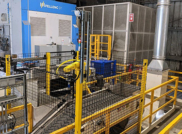 Photo: Everest Labs new breed of robotic sorting systems for material recovery facility.