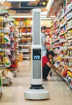 Inventory robots being used in supermarkets