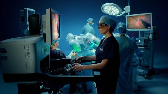 Robotic system designed to perform surgery
