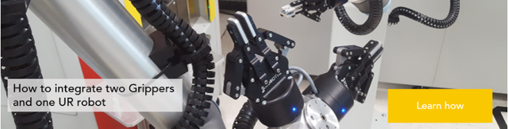 Integrate two grippers and one UR robot